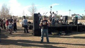 Live band at the festival