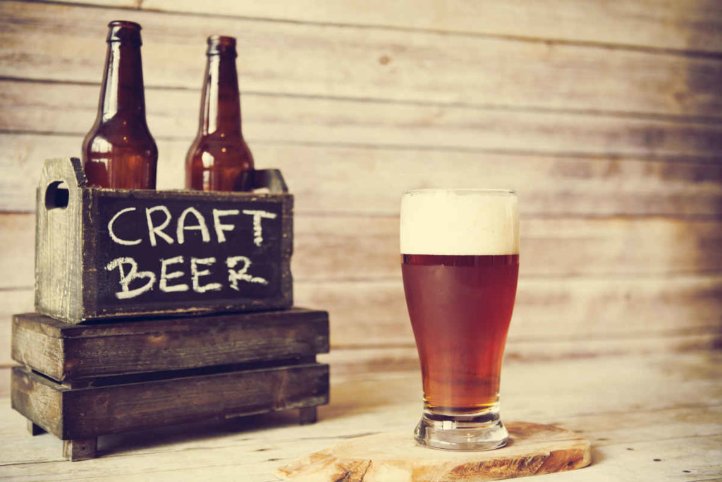 Craft Beer Bottles and Glass