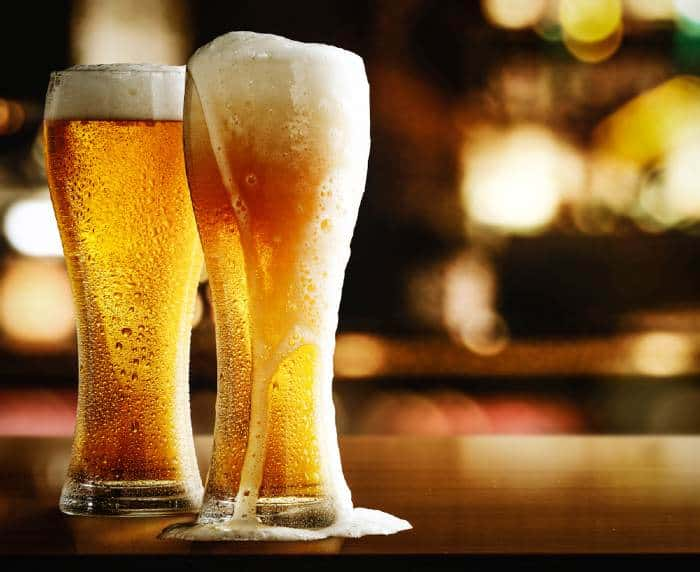 Two glasses of the best Mexican beer to quench your thirst